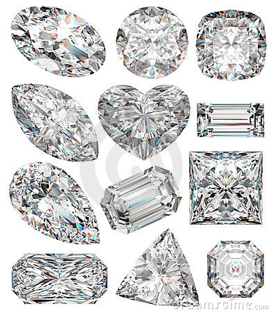 Diamond shapes.