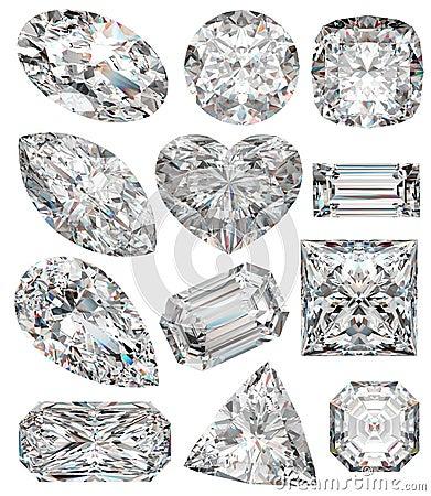 Free Diamond Shapes. Royalty Free Stock Photography - 14596117