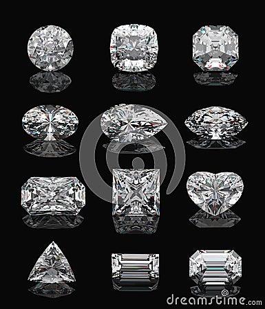 Free Diamond Shapes On Black. Royalty Free Stock Images - 14682629