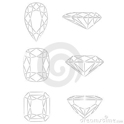 Free Diamond Shapes Vector: Pear - Cushion - Radiant Royalty Free Stock Images - 6862809