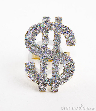 Diamond studded dollar bill