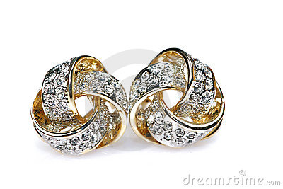 Diamond studded earrings jewellery