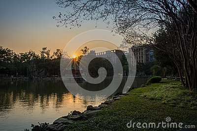 Diamond Sunrise in National Taiwan University