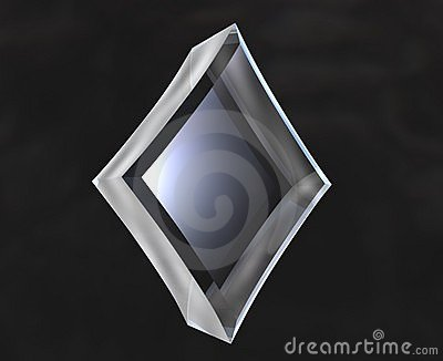 Diamond symbol in glass