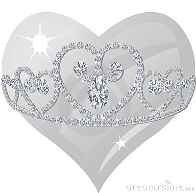Free Diamond Tiara And Crystal Heart Stock Images - 8904254