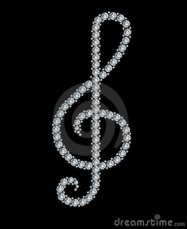 Diamond treble clef