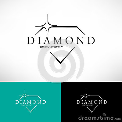 Free Diamond Vector Icon Set  In Line Style. Logo Design. Royalty Free Stock Image - 55939576