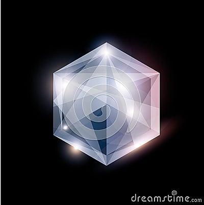 Diamond vector jewelry