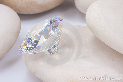 Diamond on white stone