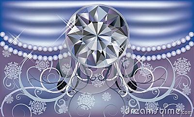 Diamond winter background