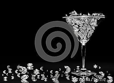 Diamonds in a martini glass