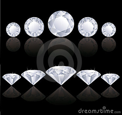 Free Diamonds Rows Royalty Free Stock Images - 16970879