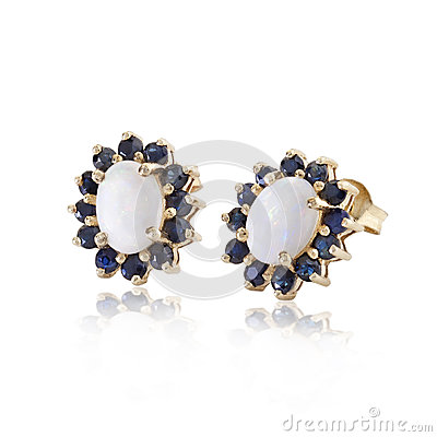 Diamonds and sapphire earrings