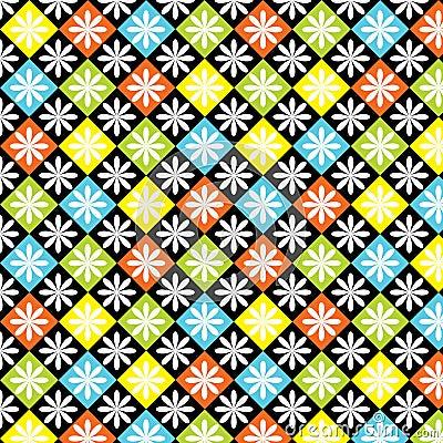 Free Diamonds Seamless Colorful Pattern Stock Image - 24249361
