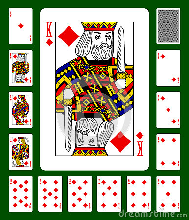 Free Diamonds Suit Playing Cards Stock Images - 61729964