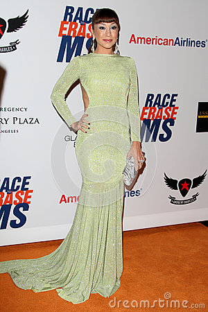 Diana DeGarmo arrives at the 19th Annual Race to Erase MS gala Editorial Stock Image