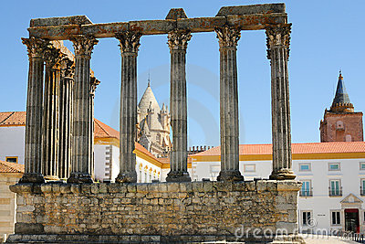Diana Temple ruins in Evora - Portugal