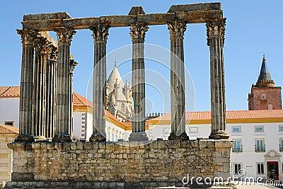 Diana Temple ruins in Evora - Portugal