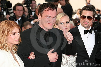 Diane Kruger, Brad Pitt, Quentin Tarantino and Me Editorial Stock Photo