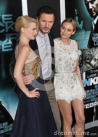 Diane Kruger,January Jones,Liam Neeson Editorial Stock Image