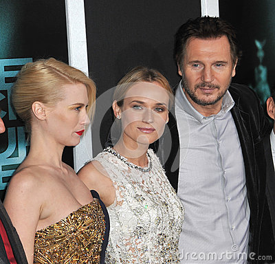Diane Kruger,January Jones,Liam Neeson Editorial Stock Image
