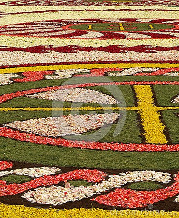 Diano Marina, Italy - June 10, 2007: Infiorata Lig Editorial Stock Photo