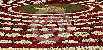 Diano Marina, Italy - June 10, 2007: Infiorata Lig Editorial Photography