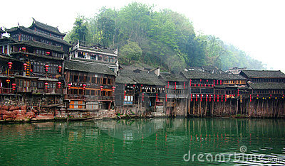 Diaojiao houses in old town