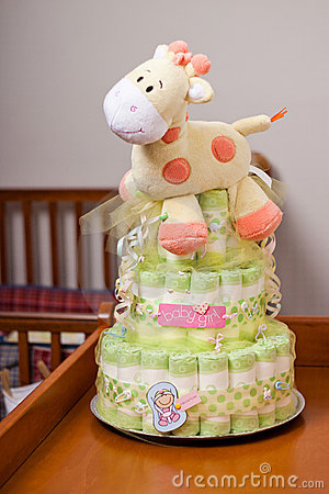 Diaper Cake for girl