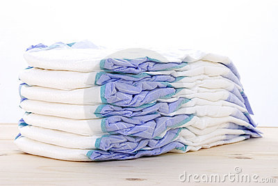 Diapers On A Table