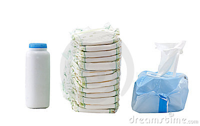 diapers wipes powder royalty free stock images image