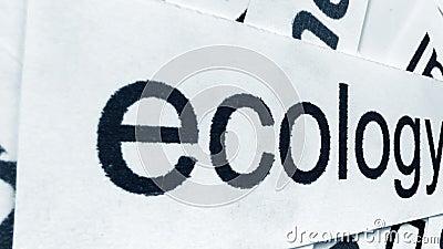 Diapositive sur le nuage de mots écologie banque de vidéos