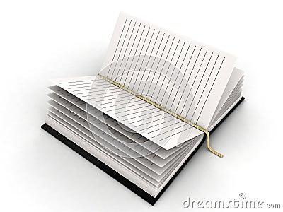 Diario in bianco