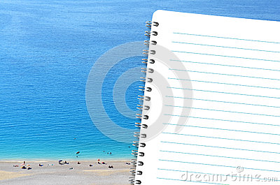 Diary and the beach
