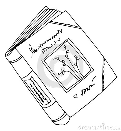 Diary book drawing