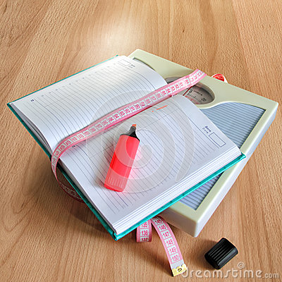 Free Diary Losing Weight Women Stock Photography - 29679152