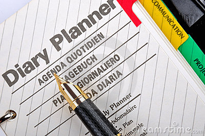 Diary and plan