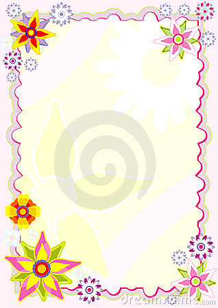 Diary sheet with flowers
