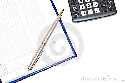 Diary with silver pen