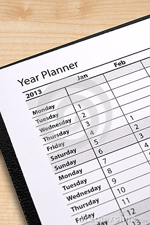 Diary year planner