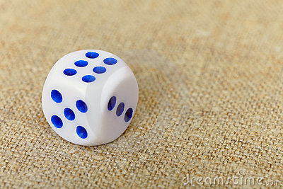 Dice on canvas