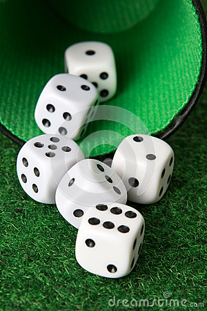 Dice from a cup