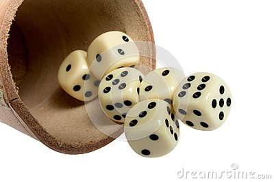 Dice cup and dice