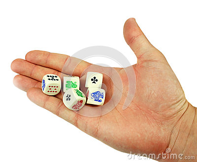 Dice in hand