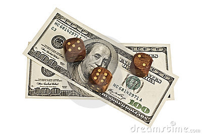 Dice and money isolated