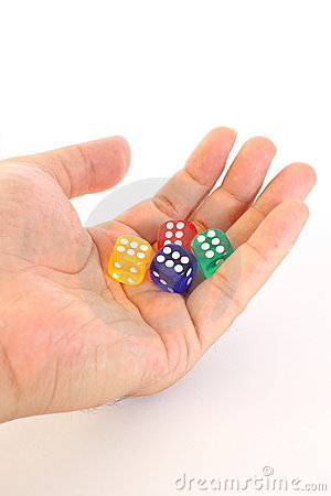 Free Dice On Hand Stock Photography - 17413202