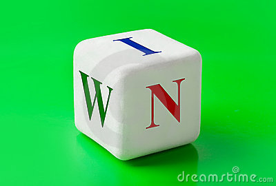 Dice with word Win