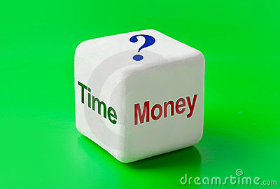 Dice with words Time and Money