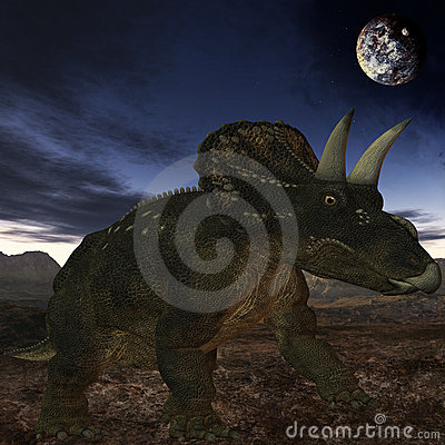 Free Diceratops-3D Dinosaur Stock Images - 5689994