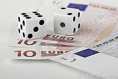 Dices on euro currency